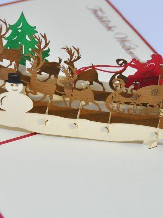 Reindeer and Santa Claus